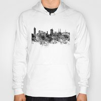 vienna Hoodies featuring Vienna skyline in black watercolor by Paulrommer