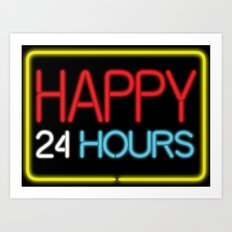 Happy 24 hours Art Print