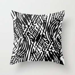 Linocut Throw Pillow