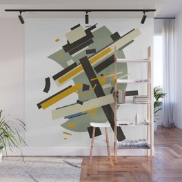 Geometric Abstract Malevic #10 Wall Mural