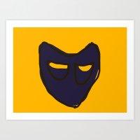 Orange Mask Art Print