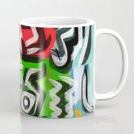 Primitive street art abstract Coffee Mug