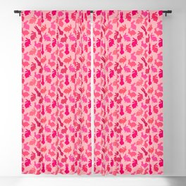 Bunnies Galore Pink on Pink Blackout Curtain