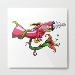 Hot Pink Pistol Metal Print