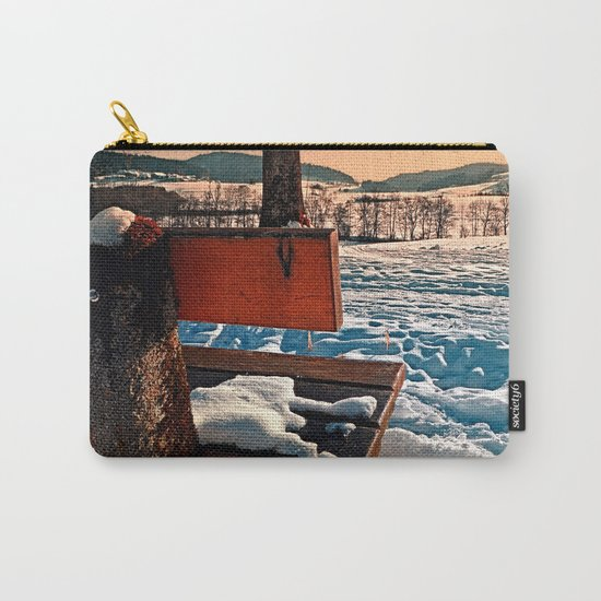 View into winter scenery Carry-All Pouch