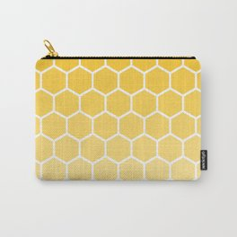 Bright yellow gradient honey comb pattern Carry-All Pouch