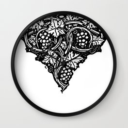 A Tailpiece of Grape Vines Wall Clock