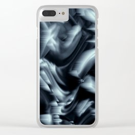 Black and White Abstract Clear iPhone Case