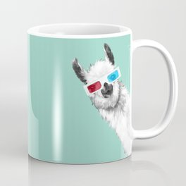 Sneaky Llama with 3D Glasses #01 Coffee Mug