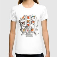 building T-shirts featuring Japanese building by Natsuki Otani