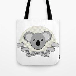 100% Koalafied Tote Bag