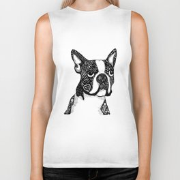 Boston Terrier Biker Tank