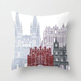 Burgos skyline poster Throw Pillow