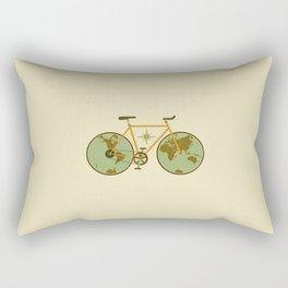 bicycle world map cute art design love 2018 sticker iphone case love pop Rectangular Pillow