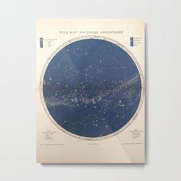 Chambers - Star Map, Southern Hemisphere, 1904 Metal Print