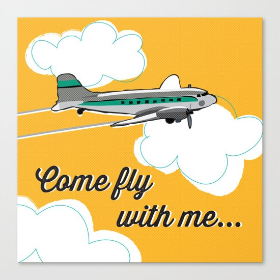 Come fly with me... Canvas Print