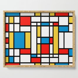 Tribute to Mondrian No2 Serving Tray