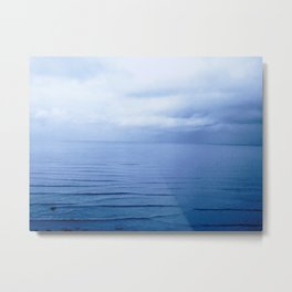 Fireside Blue Metal Print