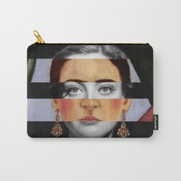 Frida Kahlo's Self Portrait Time Flies & Joan Crawford Carry-All Pouch