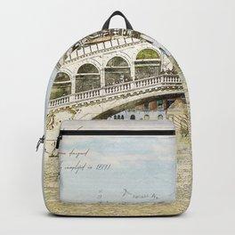 Rialto Bridge, Venice Italy Backpack
