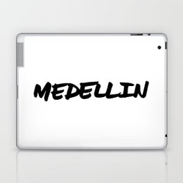 'Medellin' Colombia Hand Letter Type Word Black & White Laptop & iPad Skin