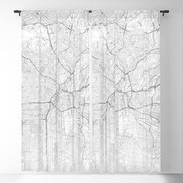 Los Angeles Map, Art Print By LandSartprints Blackout Curtain