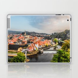 Cesky Krumlov Panoramic view Laptop & iPad Skin