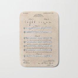 patent art Beswick Musical notation 1903 Bath Mat