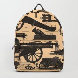 Vintage Illustration of Cannons & Artillery (1907) Backpack
