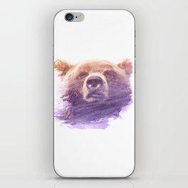 BEAR SUPERIMPOSED WATERCOLOR iPhone Skin