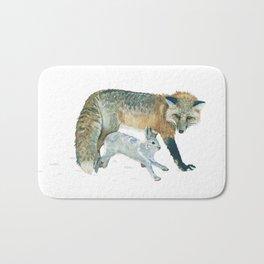 Fox and Hare Bath Mat