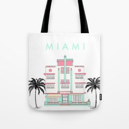 Miami Art Deco Vibes Tote Bag