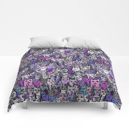 Ultraviolet Gemstone Cats Comforters