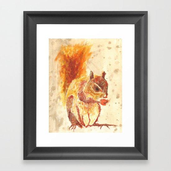 Squirrel Monster Framed Art Print