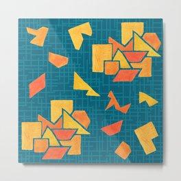 Hand painted geometrics Metal Print