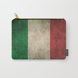 Old and Worn Distressed Vintage Flag of Italy Carry-All Pouch