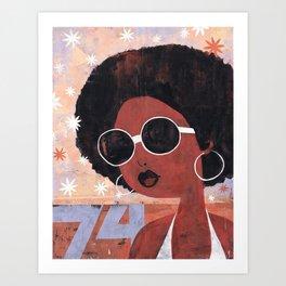 Afro 74 Art Print