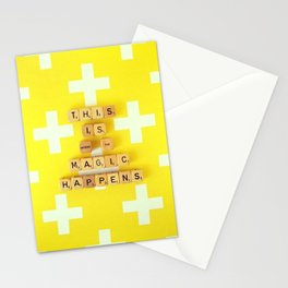 This is Where The Magic Happens Stationery Cards