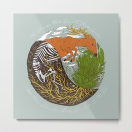 Plants & Animals Eat Each Other Metal Print