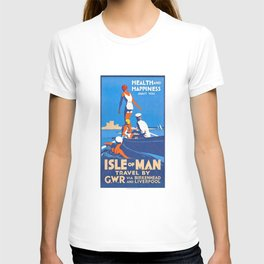 1932 Isle Of Man Health And Happiness Await You Travel Poster T-shirt
