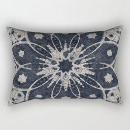 Mandala Blue Bohemian Geometic Abstract Rectangular Pillow