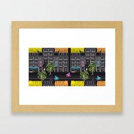 Boulevard Haussmann (dark) Framed Art Print