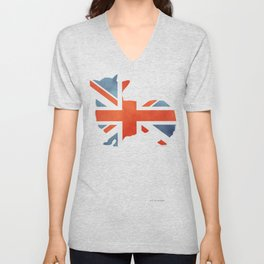 Union Jack Corgi Unisex V-Neck