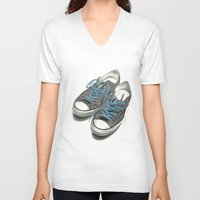 converse V-neck T-shirts featuring Converse by Anthony Billings
