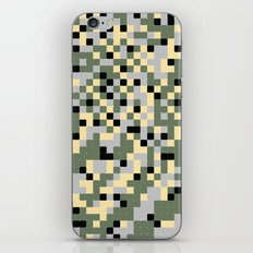 Pixelated Camo Pattern iPhone & iPod Skin