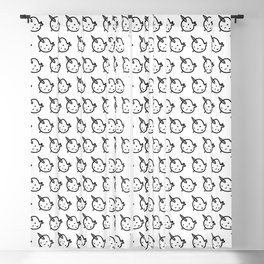 CUTE NARWHAL PATTERN Blackout Curtain