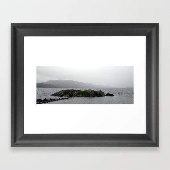 small island near stavanger, norway. Framed Art Print