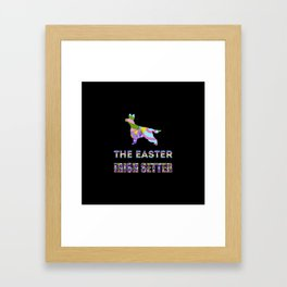 Irish Setter gifts | Easter gifts | Easter decorations | Easter Bunny | Spring decor Framed Art Print