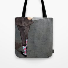 Argyle Socks by Kat Mills Tote Bag