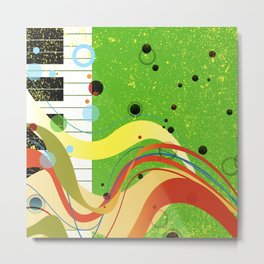 Jazz Background Metal Print